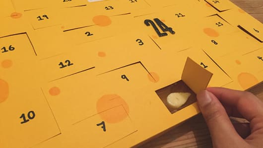 This Cheese Advent Calendar Is Nacho Typical Yuletide Treat class=