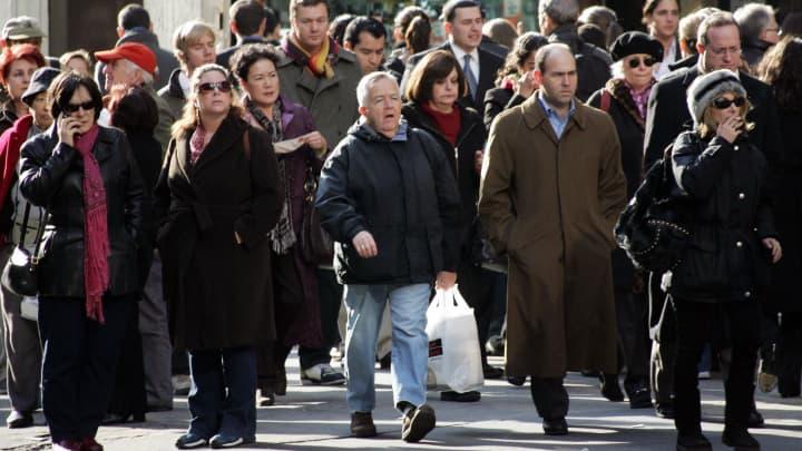 Pedestrians in New York