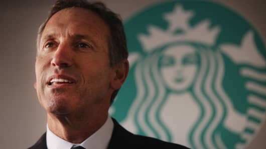 Starbucks CEO Howard Schultz.