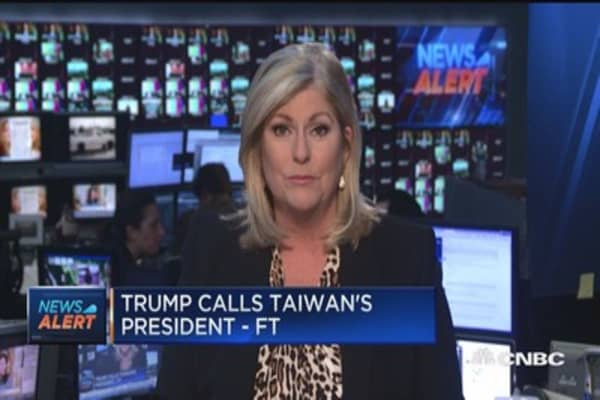 politics trump remains defensive after call with taiwan president