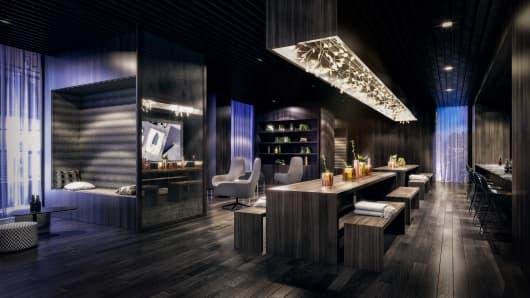 Communal lounge rendering