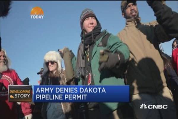 Protesters celebrate Dakota pipeline victory