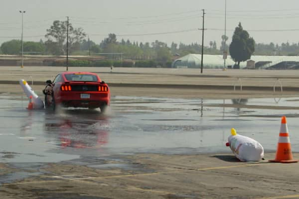 """Jay Leno drives """"drunk"""" and takes out inflatable clowns."""