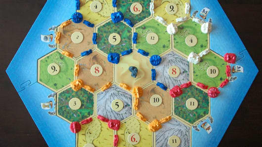 The board game Settlers of Catan