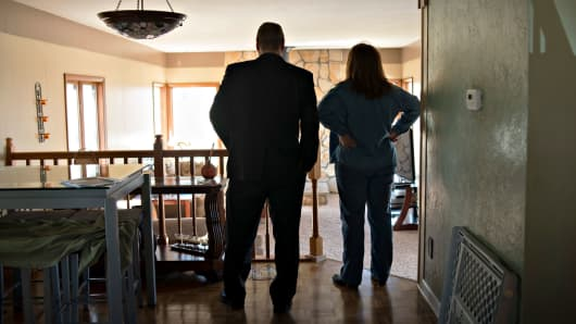 Prospective home buyers in East Peoria, Illinois.