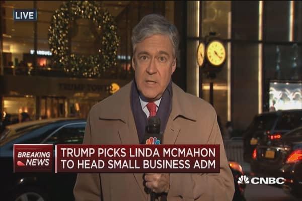 Trump picks Linda McMahon to head SBA