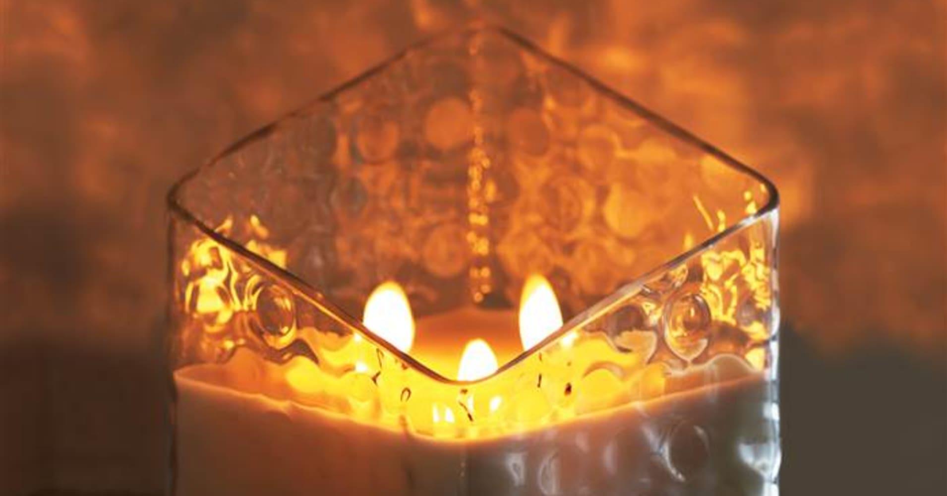 Clarence item Beautiful Silver Crystal 2 face Medium heart Candle Holder ukstock