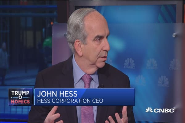 See oil in a range of $60-$80: John Hess