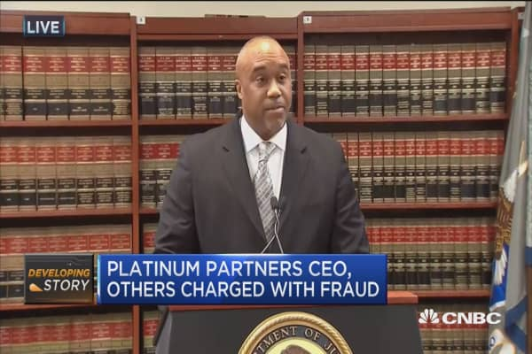 Platinum Partners hedge fund founder, others charged with fraud