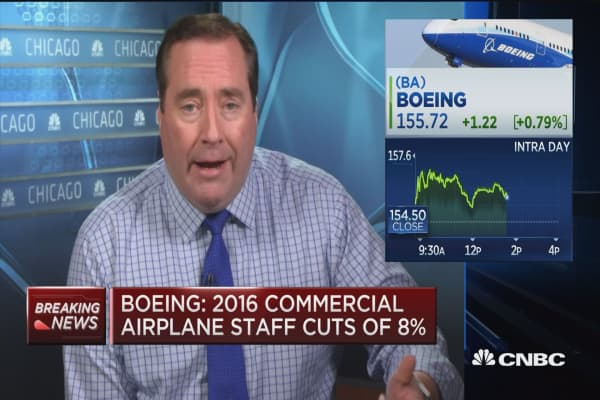 Boeing: 2016 commercial airplane staff cuts 8%