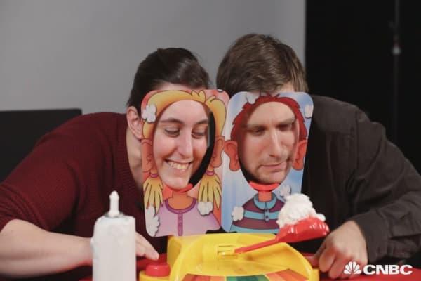 CNBC Tries Pie Face Showdown