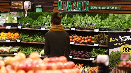 Organic produce is seen for sale, November 28, 2016 at a Ralph's Supermarket in Irvine, California. '