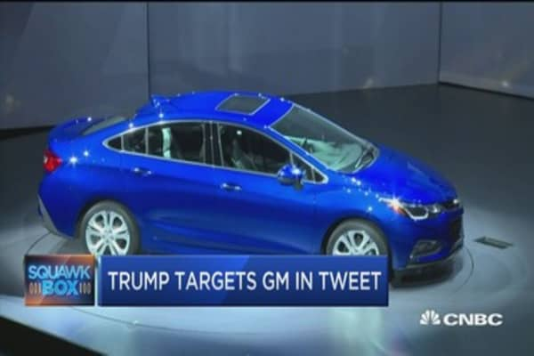 Trump tweet targets GM