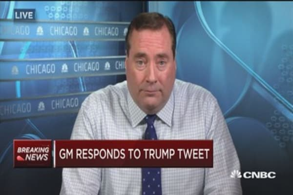 GM responds to Trump tweet