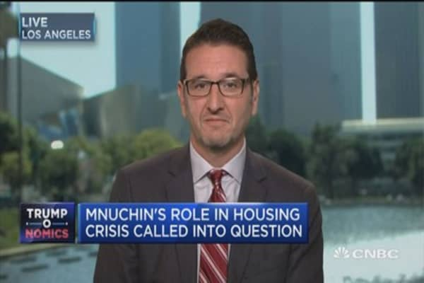 Mnuchin's role in housing crisis called into question