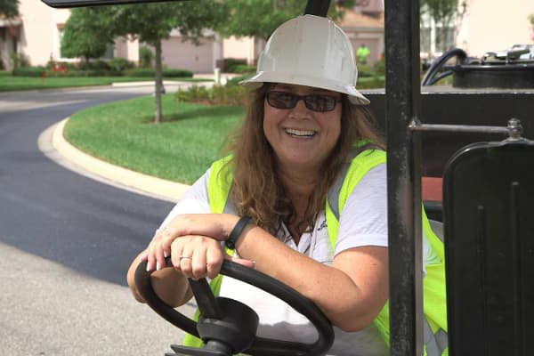 Connie Lorenz, president and owner of Asphalt Restoration Technology Systems