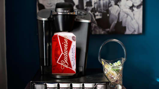 Keurig, AB InBev to Team Up on Alcoholic Drinks Dispenser