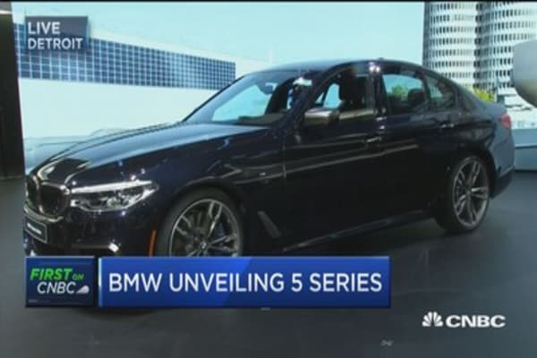 BMW unveils new 5-Series at Detroit auto show