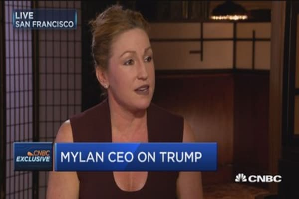 Mylan CEO: Trump is a very business-minded, solution-oriented individual