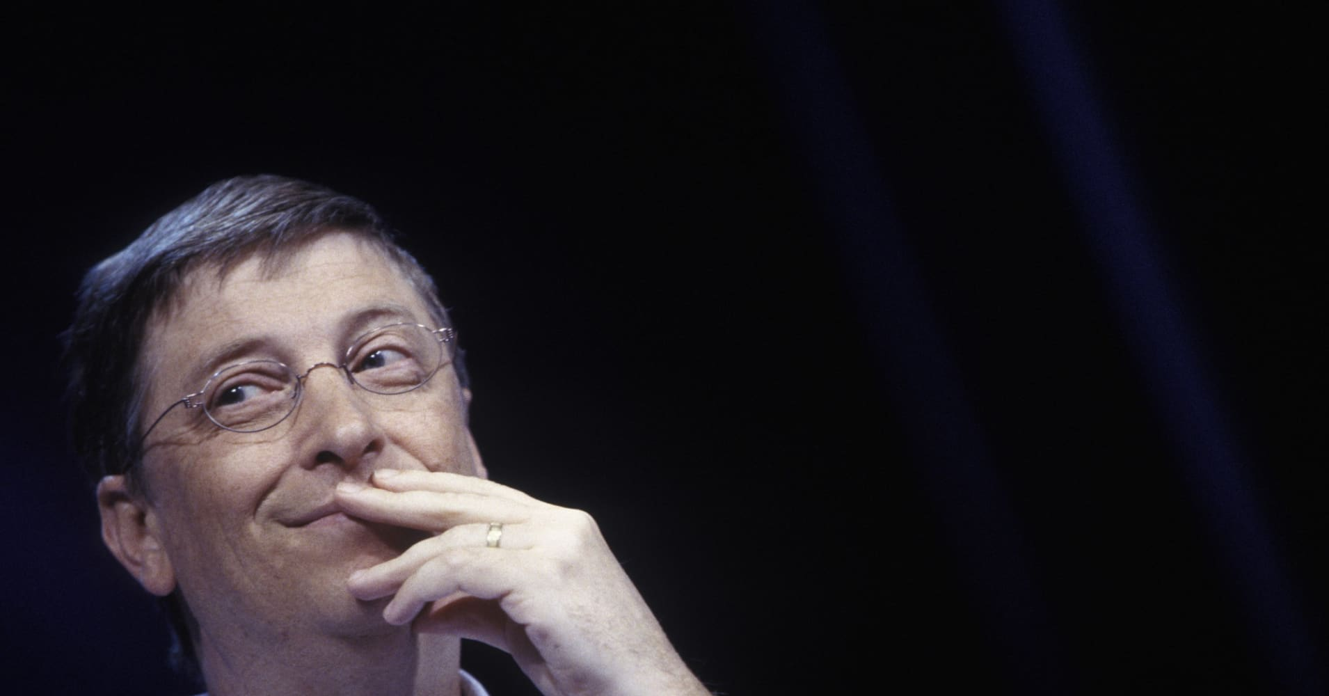 Photo of Bill Gates in 2002