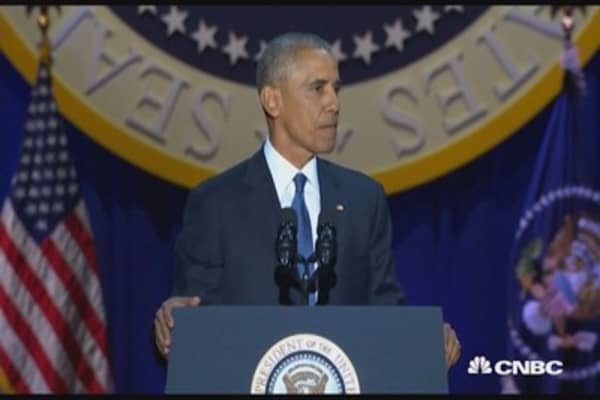 President Obama lists off accomplishments in farewell speech