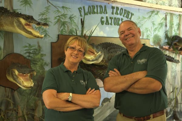 Rick and Bunny Lightsey own Florida Trophy Gators.