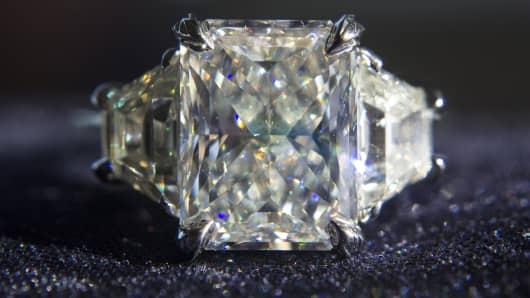 A diamond ring from Zameer Kassan Fine Jewelry.