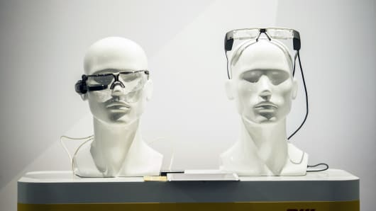 Augmented reality smart glasses.