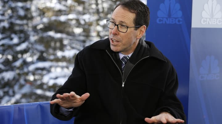 Randall Stephenson, chairman and chief executive officer of AT&T Inc., at the World Economic Forum in Davos, Switzerland on Jan. 17, 2017.