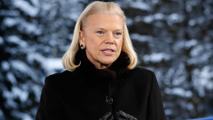 Ginni Rometty, Chairwoman, President and CEO of IBM, at the World Economic Forum in Davos, Switzerland.