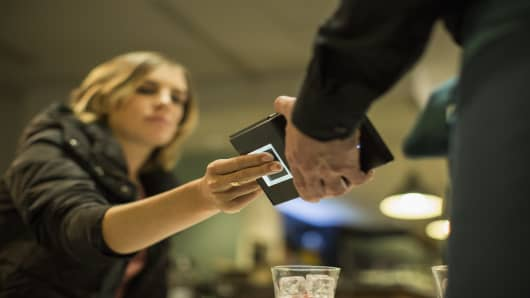 Touche, a device which uses fingerprint to process mobile payments