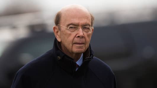 Investor Wilbur Ross arrives for his meeting with president-elect Donald Trump at Trump International Golf Club, November 20, 2016 in Bedminster Township, New Jersey.