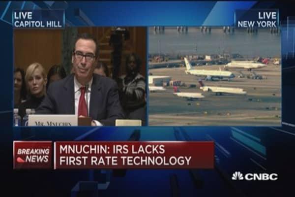Mnuchin: IRS lacks first rate technology