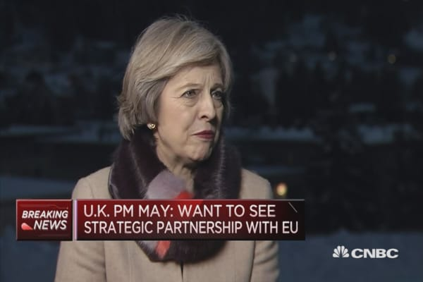 I'm a promoter of free trade: UK PM May