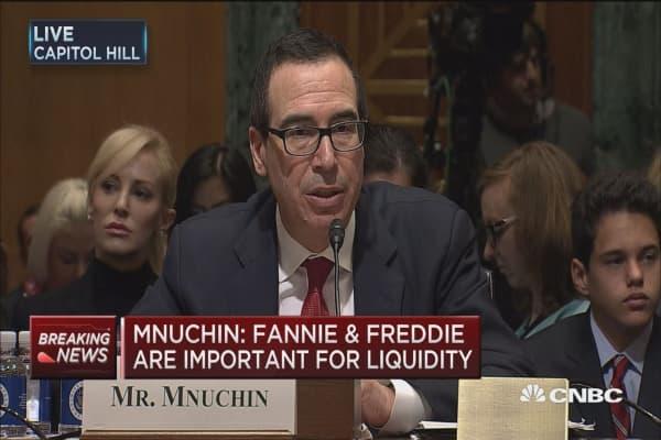 Mnuchin: Fannie & Freddie are important for liquidity