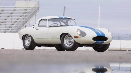 This 1963 Jaguar E-Type Lightweight Competition sold for $7.37 million at Bonhams' Scottsdale auction.