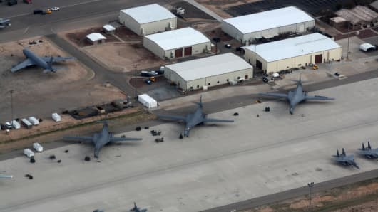 Lock down lifted at Air Force base after reports of 'gunshot sounds'