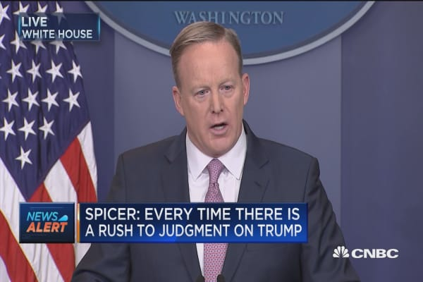 Spicer: Every time there is a rush to judgement on Trump