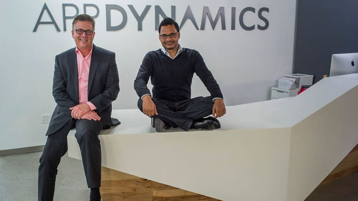 Joe Sexton, president of worldwide field operations for AppDynamics Inc., left, and Jyoti Bansal, co-founder and chief executive officer of AppDynamics Inc.