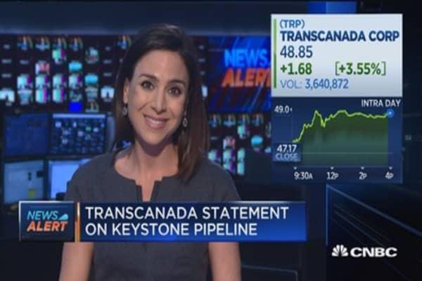 TransCanada says it will re-apply for Keystone XL pipeline