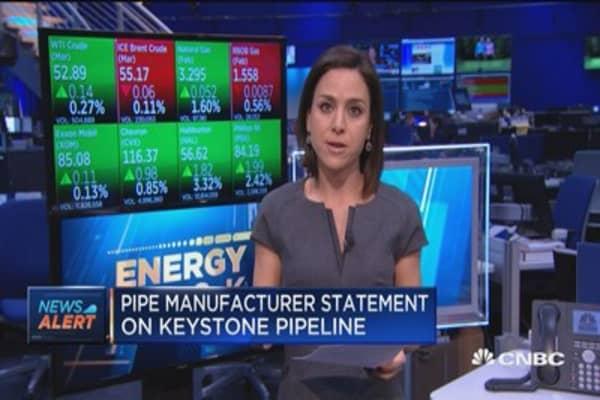 Pipe manufacturer statement on Keystone pipeline