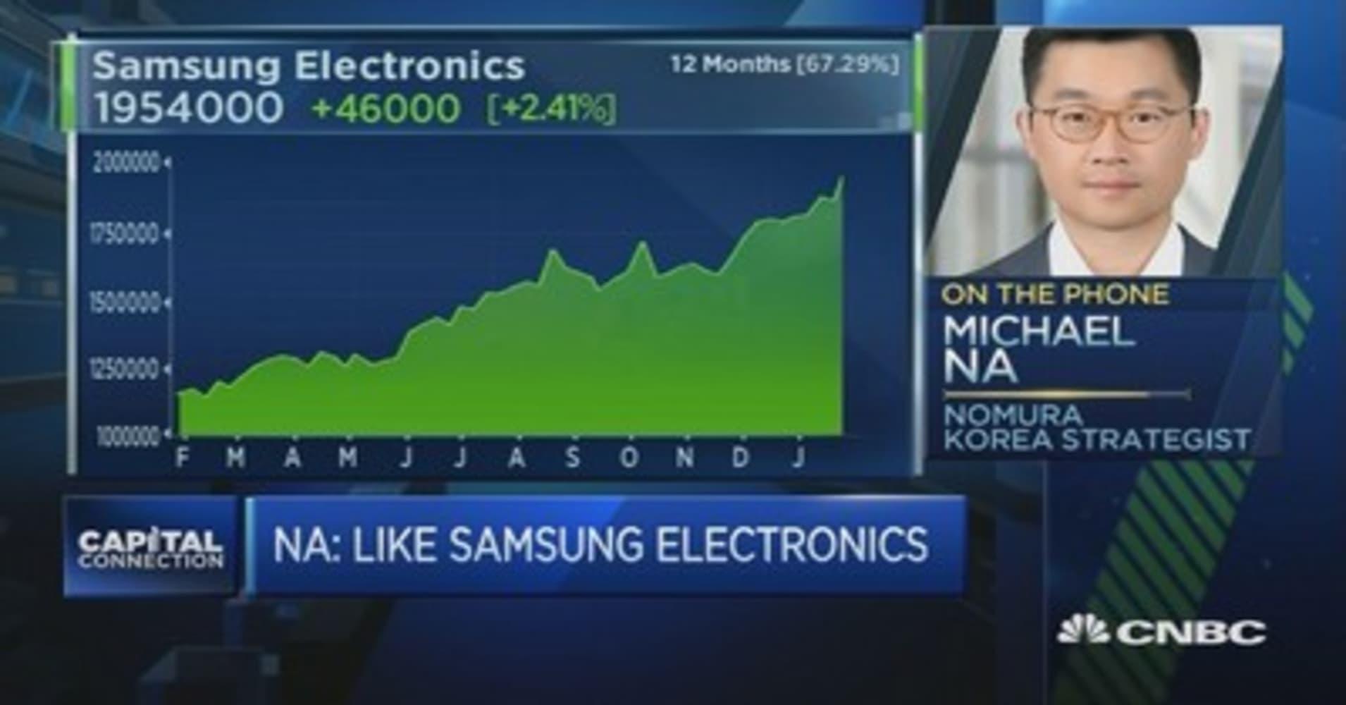 Samsung stocks can run higher: Strategist