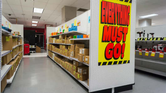 Everything must go at the soon to be closing Sears store in the New York borough of the Bronx.