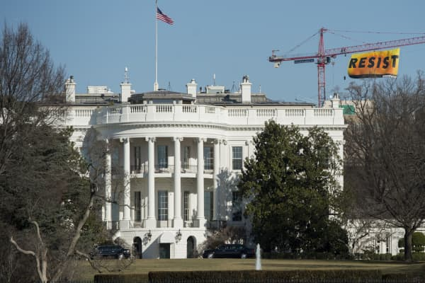 Greenpeace protesters went to the new heights in Washington today