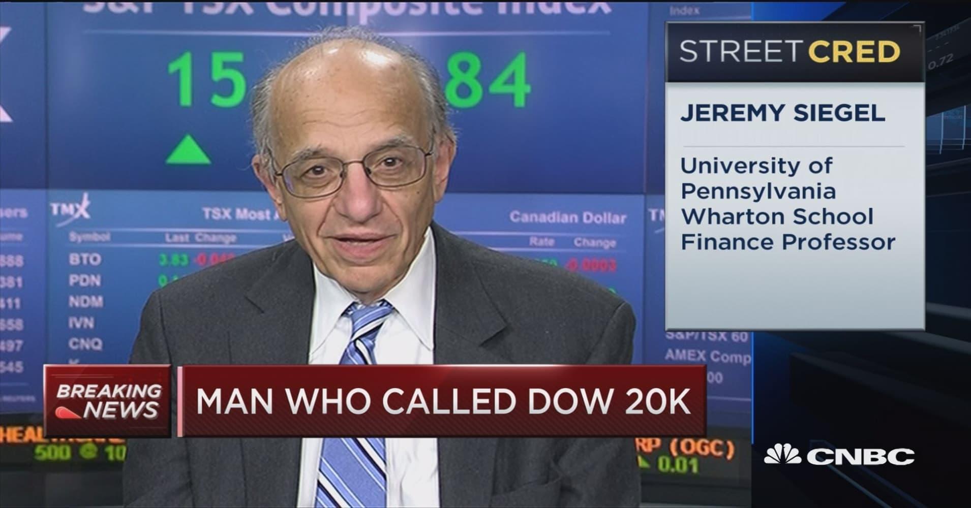 Jeremy Siegel says Dow is headed toward 22,000