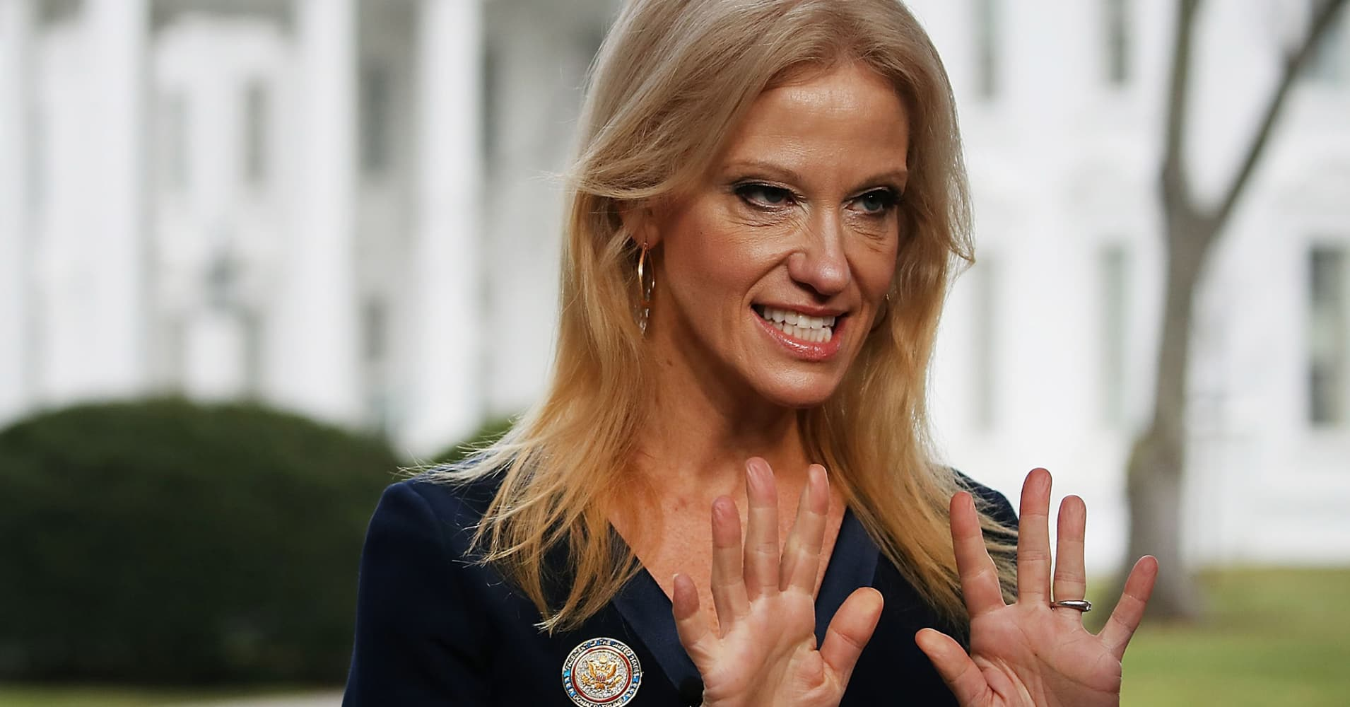trump travel ban kellyanne conway made up a fake terrorist attack counselor to president kellyanne conway prepares to appear on the sunday morning show meet