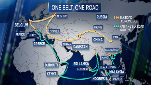 Belt and road initiative official map