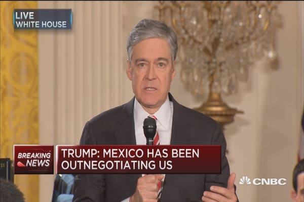 Trump tamping down trade war with Mexico?