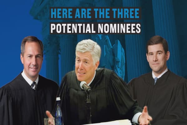 One of these 3 men could be Trump's Supreme Court pick