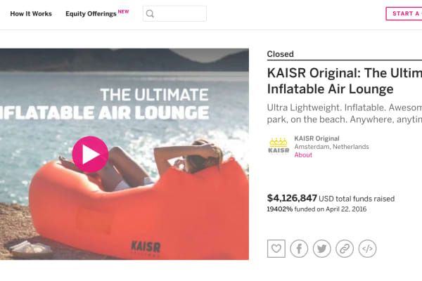 KAISR shut down its operations and refunded most of the $4 million it raised after settling a lawsuit with Lamzac's parent company Fatboy.